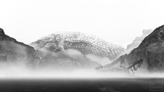Jörmungandr (ilikedetectives) Tags: gow godofwar godofwar4 scenery landscape bw jörmungandr snake world serpent santamonicastudio screenshot gaming gamecaptures ingamephotography videogames virtualphotography