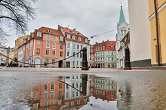 Mirror of Riga (thomasbénet) Tags: light mirror riga latvia newyear pictureoftheyear eos 5dmarkiii canon fullframe church