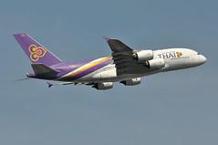TG0911 LHR-BKK (A380spotter) Tags: takeoff departure climb climbout airbus a380 800 msn0093 hstub มัญจาคีรี manchakhiri thaiairwaysinternational tha tg tg0911 lhrbkk runway09r 09r london heathrow egll lhr
