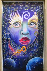 Funchal Citty Graffity woman (Marco Braun) Tags: portugal walart graffiti stencil streetart black white weiss blanche noire schwarz schablone 2018 colourfulcolored couleures farbig bunt europa europe dream magic frau femme woman tür dor porte spirale helix spirali blau blue bleu amsterdam holandniederlande