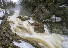 Ellis River (Matt.Dlubac) Tags: river water spring winter snow ice trees forest mountains waterfall a7riii