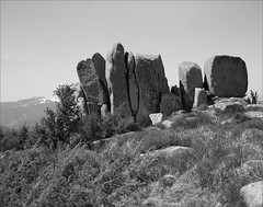 rochers dressés - Steinberg - Vosges (JJ_REY) Tags: rochesdressées erectedrocks montagne vosges steinberg moutains bw film largeformat 4x5 fuji acros100 toyofield rodenstock aposironarn 150mmf56 alsace france