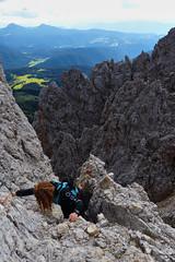 Io / Ich / I / Ik - Santnerpass Klettersteig - Trentino-Alto Adige - Italia [Explored #22] (Felina Photography - www.mountainphotography.eu) Tags: dolomites dolomiten dolomieten dolomiti catinaccio rosengarten santnerpass santner viaferrata klettersteig italy italia italië italien trentinoaltoadige mountainphotography alps felina photography felinaphotography alpen mountains montagna climber climbing kletterer klettern climb arrampicata ferrata fassatal valdifassa fassa montura woman girl