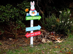 Happy Easter to All My Friends! (dimaruss34) Tags: newyork brooklyn dmitriyfomenko image easter flower flowers rabbit bunny grass bushes pointer signpost