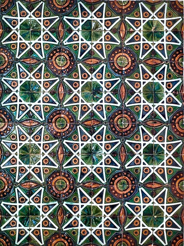"""Estrela"" pattern tiles panel (undated) - Rafael Bordalo Pinheiro (1846-1905)"