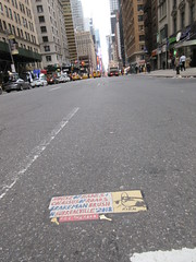 2019 Rien - Cowboy Profile With Keys House of Hades 6521 (Brechtbug) Tags: 2019 rien cowboy profile with keys house hades toynbee tile broken up 54th street 7th ave new york city plus colossus roads brakeman brush in surrealville 2018 fill the ford art artist mosaic parts part shattered smashed jumbled black top asphalt 04202019 nyc cow boy caricature seventh avenue fifty forty