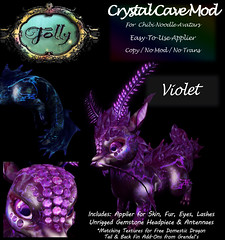Folly_NoodleMod_CrystalCaveAdViolet (Cane's Folly SL) Tags: cane sutter second life chibi noodle avatars texture mod crystal cave