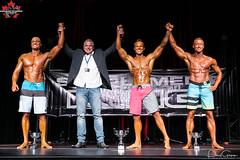 5738Mens Physique-Tall-2 Spencer Andrews 1 Tad Kehoe 3 Garret Kennedy (CanadianPhysiqueAlliance) Tags: 11tadkehoe 17spencerandrews 2019nsphysique 9garrettkennedy canadianphysiquealliance casinonovascotia mensphysiquetall top3 trophy group