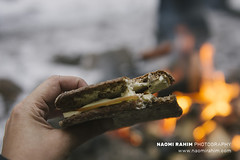 Hiking the Arctic Circle Trail, Finnish Lapland (Naomi Rahim (thanks for 4.7 million visits)) Tags: finland finnishlapland lapland arctic arcticcircle hiking trail forest woods travelphotography travel nikon nikond7200 vsco toastie campfire fire cheese bread sandwich autumn november food foodphotography europe scandinavia outdoor rovaniemi