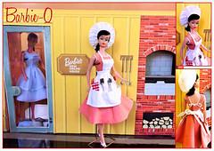 BARBIE-Q (ModBarbieLover) Tags: barbie doll vintage 1959 1964 swirl ponytail mattel barbecue dreamhouse apron chef