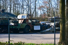 Old military equipment (Michiel2005) Tags: maaldrift kazerne leger landmacht surplus truck lorry vrachtauto trekker tank nederland netherlands holland wassenaar