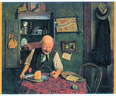 Nottingham Castle Museum - His Daily Ration (pepandtim) Tags: postcard old early nostalgia nostalgic nottingham castle museum his daily ration charles spencelayh 1865 1958 genre english rochester 1892 royal academy 1939 1896 1954 77ncm52 queen mary collector 1924 dolls house 2009 apples