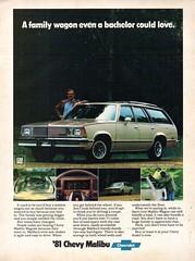1981 Chevrolet Chevy Malibu Wagon USA Original Magazine Advertisement (Darren Marlow) Tags: 1 8 9 19 81 1981 c chev chevy chevrolet m malibu w wagon car cool collectible collectors classic a automobile v vehicle u s usa us united states american america 80s