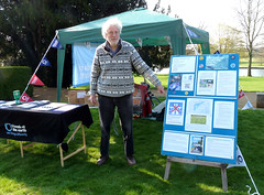 Friends of the Earth at Bean Pole Day, April 2019 (1) (karenblakeman) Tags: caversham uk april 2019 beanpoleday cavershamcourtgardens friendsoftheearth reading berkshire