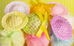 Huddle (brookis-photography) Tags: easter chicken hats toys decoration deco pastels pastelcolour huddle group