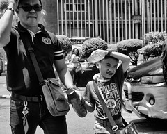 Father and Son (Beegee49) Tags: street father son people crossing is blackandwhite monochrome bw a6000 sony bacolod city philippines asia
