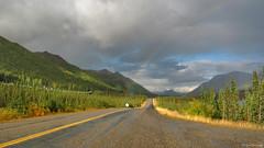 Alaska: Dalton Highway rainbow (Henk Binnendijk) Tags: daltonhighway alaska usa northernalaska arcticcircle fallcolours road yellow haulroad rainbow taps transalaskapipeline pipeline regenboog