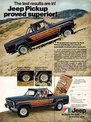 1979 American Motors Jeep Pickup USA Original Magazine Advertisement (Darren Marlow) Tags: 1 7 9 1979 19 79 a american m motors j jeep pickup p c car cool collectible collectors 4 w d 4wd classic automobile v vehicle u s us usa united states america 70s