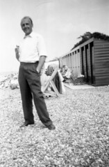 VINTAGE SEASIDE (JOHN MORGANs OLD PHOTOS.) Tags: vintage found photo uk unusual unitedkingdom unknown unique interesting johnmorgan old photos people different the bw black british white s