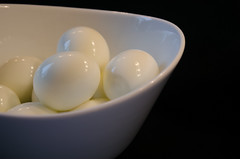 Boiled Eggs (lleon1126) Tags: challenge yellowonwhite eggs boiledeggs bowl whiteonblack food culinary