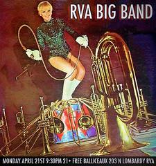 RVA Big Band (BOPST) Tags: bopst design graphicdesign photoshop poster gigposter rvabigband jazz rva 2014