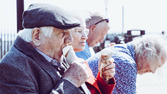 sensory memories (Brett T) Tags: outside people portrait icecream man woman couple hat food