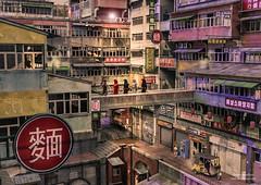china town monk crossing (Dani Boy Boy Dani) Tags: china town monks daz 3d studio house houses