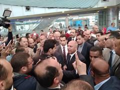 بالصور .. وزير النقل يتفقد محطة سيدي جابر بالاسكندرية (newslek) Tags: محافظات ع السكة image