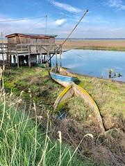 iph8211 (gzammarchi) Tags: italia paesaggio natura ravenna portocorsini piallassabaiona piallassa lago barca coppia capanno rete