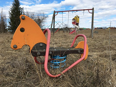 Playtime is over 6 (hoekmannen) Tags: hoekmannen lekpark rastplats övergivet abandoned playground gunghäst verlassen sweden schweden