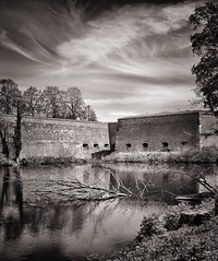 Old walls (Oliver_D) Tags: monochrome clouds walls castle zitadelle spandau berlin
