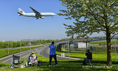 Spotters (© Freddie) Tags: londonheathrow poyle heathrow lhr egll 09l arrivals spotters aircanada cfivk fjroll ©freddie cherryblossom
