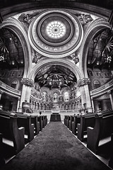 Stanford Memorial Church (PNW-Photography) Tags: church interior dome roof architecture arch fisheye stanford stanfordmemorialchurch memorialchurch cathedral religion calif california blackandwhite blackwhite bw rokinon