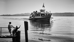 Lac de Bienne (Jtofs85) Tags: switzerland bienne biel bielersee lac swiss sony sonyalpha sonyflickraward bw bern lake children boat bateau 2470 contraste