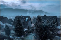 last snow (friedrichfrank1966) Tags: snow natuer hometown winter architecture trees city germany blue grey