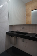 2019-04-FL-208515 (acme london) Tags: bathroom exhibition fondationlafayette museum oma paris ply plywood plywoodcladding remkoolhaas timber timberwalls toilet walls