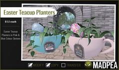 MadPea Easter Calendar - Day 21 - MadPea Easter Teacup Planters! (MadPea Productions) Tags: madpea productions madpeas easter calendar advent gift gifts decor decoration egg planter