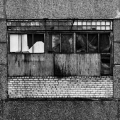 abstraktā fasāde   /   abstract facade (monokhromov) Tags: pentaxk50 jupiter21m200mm blackwhite monochrome bw blackandwhite architecture jelgava mitau urban square wall facade decay geometry