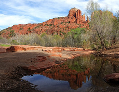 Cathedral Rock (geneward2) Tags: red rock crossing crescent moon ranch cathedral arizona sedona landscape nature water reflection trees