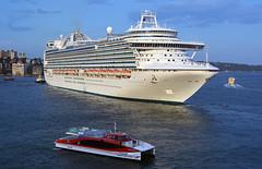 Emerald Departure 1 (PhillMono) Tags: nikon dslr d7100 sydney new south wales australia ship boat vessel cruise voyage circular quay emerald princess sun reflection ferry