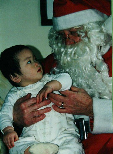 Dad as Santa with Sophia
