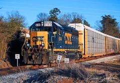 CSX A707-24 at Chattanooga, TN (KD Rail Photography) Tags: csx howtomorrowmoves qualityinmotion emd gp402 electromotivedivision generalmotordiesel tennessee chattanooga tennesseevalley locomotive diesellocomotive diesel freighttrains eveninglight eveningsky winterseason