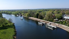 (Sam Tait) Tags: trent lock easter sunday sunny dji spark river narrowboat boat boats