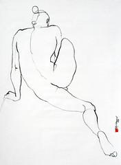 La Linnea (Jeff in St Kilda) Tags: male nude naked zen moment mindfulness pure simple spirit drawing art