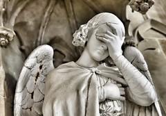La tourmentée .... (OGNB) Tags: canon6dmarkii bw nb pierre woman femme statue