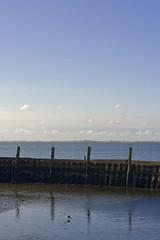 Quelque part en Zélande (Nicopope) Tags: héron eau mer zélande ciel