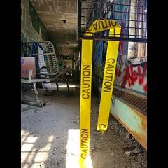Caution Hall (CaptJackSavvy) Tags: urbex urbanexploration urban city abandoned exploration abandonedbuilding afterhumans trespassing gotrespassing