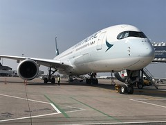 Cathay Pacific Airbus A350-941 B-LRP (josh83680) Tags: manchesterairport manchester airport man egcc blrp airbus airbusa350941 a350941 airbusa350900 a350900 cathaypacific cathay pacific