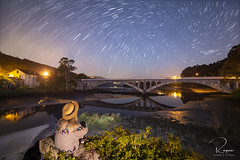Vortex - Puente viejo - O Puntal (albertoleiras) Tags: samyang14mmf28 canon6d vortex verticeestrellas puenteopuntal viejo villarrube nocturna