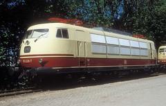103 226  Korbach  28.05.05 (w. + h. brutzer) Tags: korbach eisenbahn eisenbahnen train trains deutschland germany elok eloks railway lokomotive locomotive zug 103 db webru e03 analog nikon
